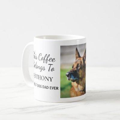 Best Dog Dad Ever Personalized Photo Coffee Mug
