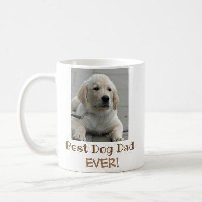 Best Dog Dad Ever Pet Photo Coffee Mug