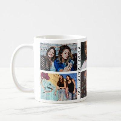 Best Friends Forever 6 Photo Custom Collage Coffee Mug