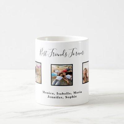 Best friends forever BFF custom photo names white Coffee Mug