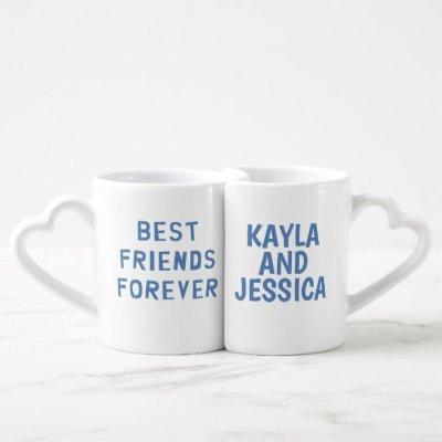 Best Friends Forever Custom BFF Coffee Mug Set