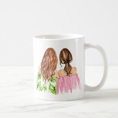 Best Friends Gift Mug Redhead and Brunette