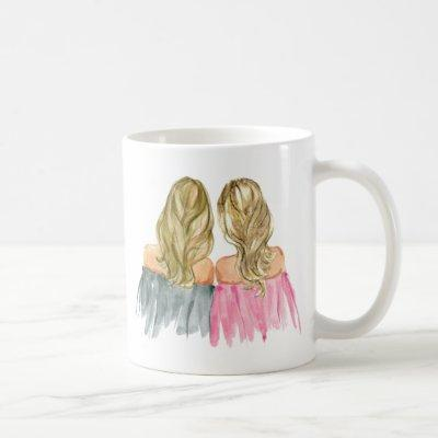 Best Friends Gift Mug Two Blonde Girls
