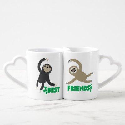 Best Friends Sloth Mug Set