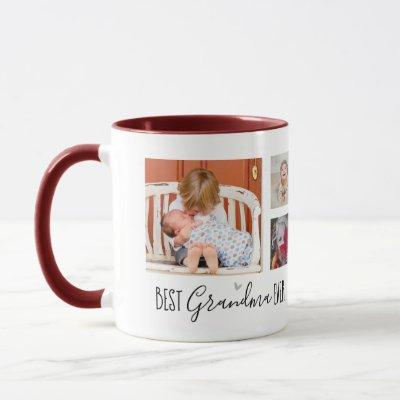 Best Grandma Ever 6 Photo Collage White Mug