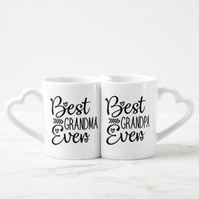 Best Grandma Ever Best Grandpa Ever Coffee Mug Set
