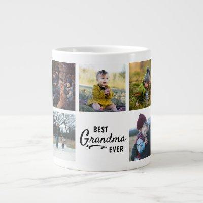 Best Grandma Ever Custom Photo Giant Coffee Mug