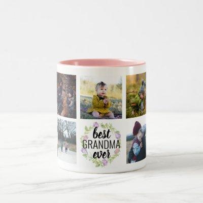 Best Grandma Ever Custom Photo Mug