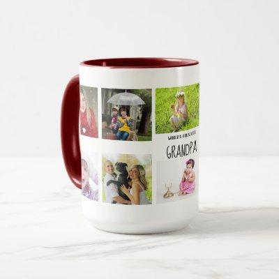 Best Grandpa Ever 10 x Photo Collage Grandkids Mug