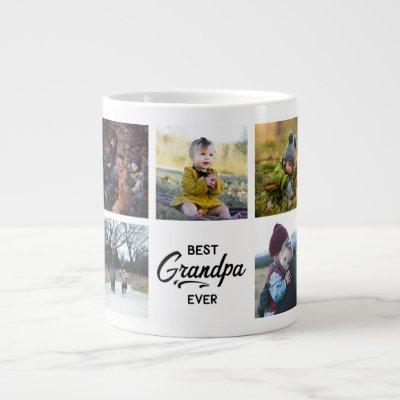 Best Grandpa Ever Custom Photo Giant Coffee Mug