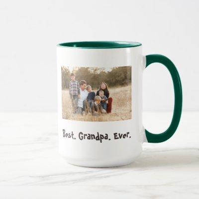 Best Grandpa Ever family photo theme Mug