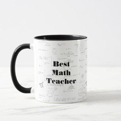 Best Math Teacher math formulas and graphics Mug
