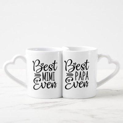 Best Mimi Ever Best Papa Ever Coffee Mug Set
