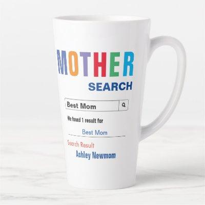 Best Mom Search Latte Mug