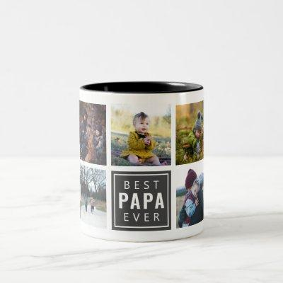 Best PAPA Ever Custom Photo Mug