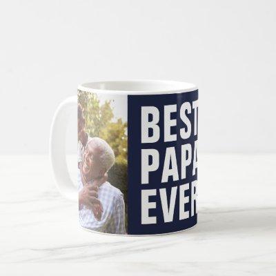 Best. Papa. Ever. Father's Day 2 Photo Coffee Mug