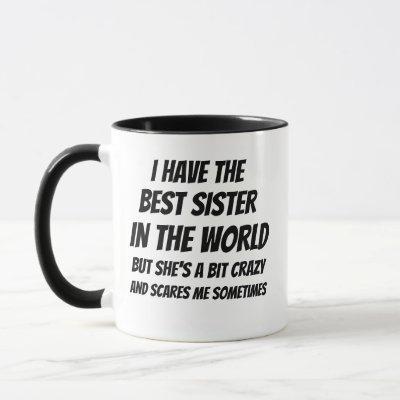 best sister, awesome sister, christmas gift MUG