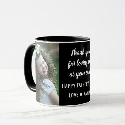 Best StepDad Happy Father's Day 2 Photo Collage Mug