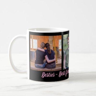 Besties Best Friends Forever 3 Photo Collage Coffee Mug