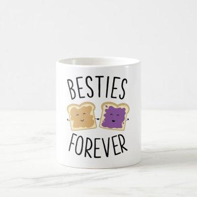 Besties Forever Peanut Butter Jelly Best Friends Coffee Mug