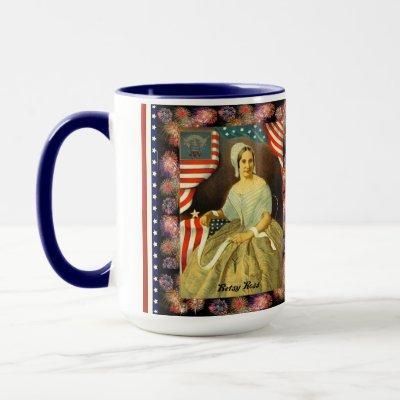 Betsy Ross Flag patriotic mug