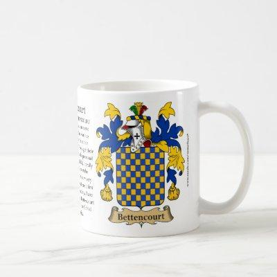 Bettencourt Family Coat of Arms Coffee Mug