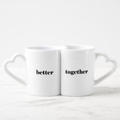 Better Together Love Coffee Mug Set