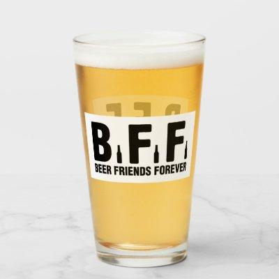 BFF(beer friend forever) Glass