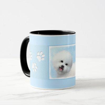 Bichon Frise Painting - Cute Original Dog Art Mug