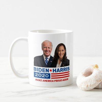 Biden Harris 2020 Election Red White Blue w/Photo Coffee Mug
