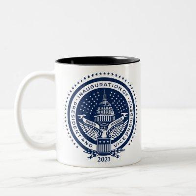 Biden Harris Inaugural Logo Inauguration Day 2021 Two-Tone Coffee Mug