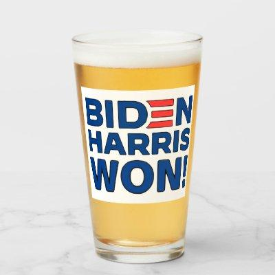 Biden Harris Won! Glass