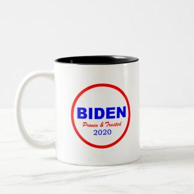 biden proven and trusted red circle Two-Tone coffee mug