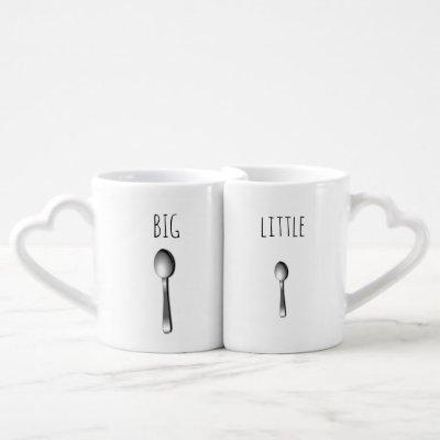 Big Spoon and Little Spoon coffee mug set