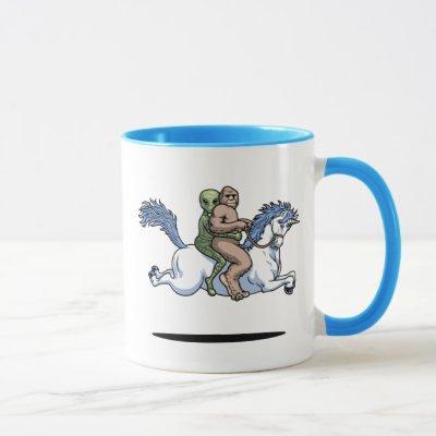 Bigfoot, Alien, Unicorn Mug