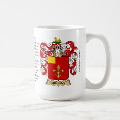 Billingsley, the Origin, the Meaning and the Crest Coffee Mug