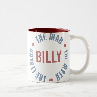 Billy Man Myth Legend Customizable Two-Tone Coffee Mug