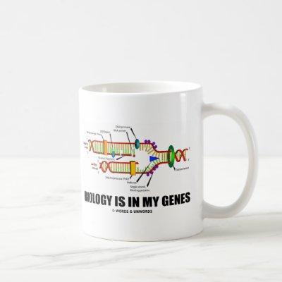 Biology Is In My Genes (DNA Replication) Coffee Mug