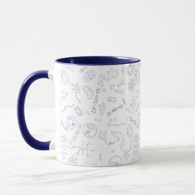 Biology scientific diagrams design mug