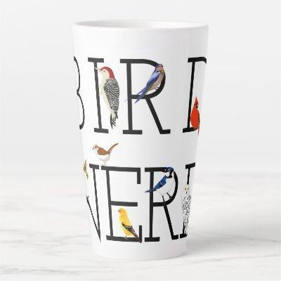 Bird Nerd Assortment Two Latte Mug