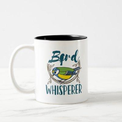 Bird Whisperer Two-Tone Coffee Mug