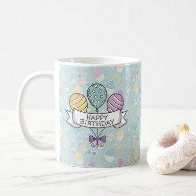Birthday Balloons mug