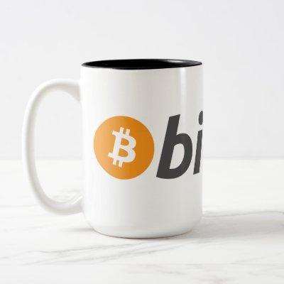 Bitcoin logo Two-Tone coffee mug