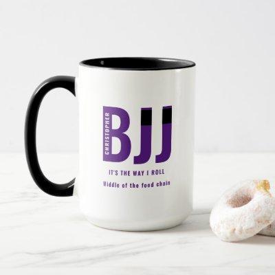 BJJ Way I Roll Add Your Name Jiu Jitsu Purple Belt Mug