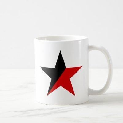 Black and Red Star Anarcho-Syndicalism Anarchism Coffee Mug