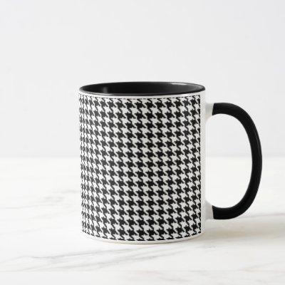Black and White Houndstooth Pattern Mug