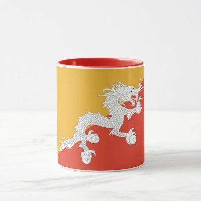 Black Combo Mug with flag of Bhutan