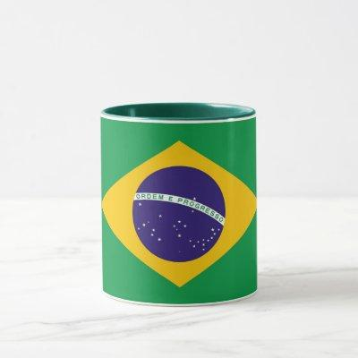 Black Combo Mug with flag of Brazil