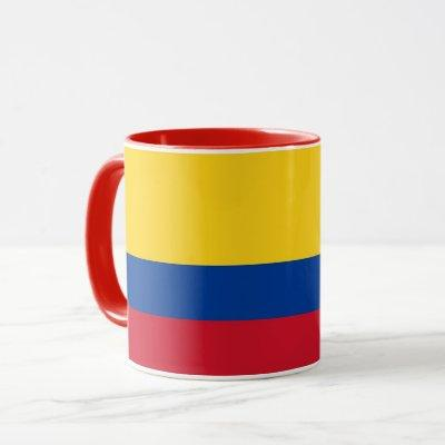Black Combo Mug with flag of Colombia