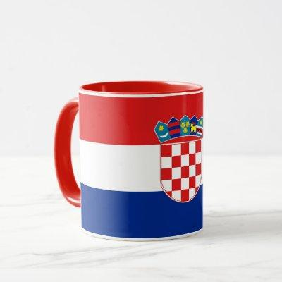 Black Combo Mug with flag of Croatia